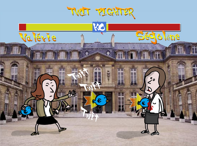 Valérie Trierweiler segolene royal twitter legislatives twit fighter