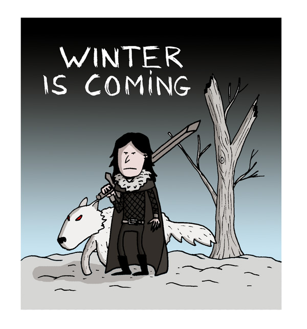 john snow game of throne winter is coming song of ice and fire draw dessin