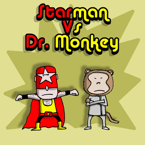 Starman Vs Dr Monkey