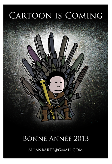 cartoon winter is coming dessinateur allan barte